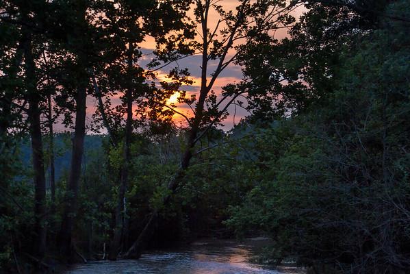 Sunset Along The Honey Creek In Miami County Ohio 7-27-2015